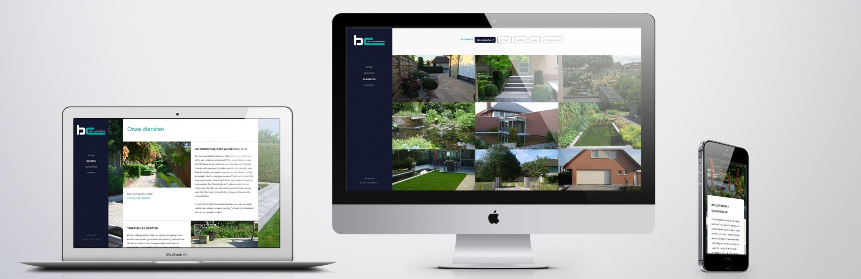 Bart Camelbeke website van laptop tot dekstop tot smartphone