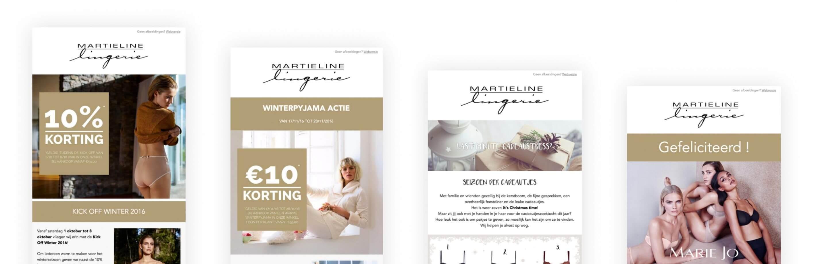 Lingerie Martieline E-mailing