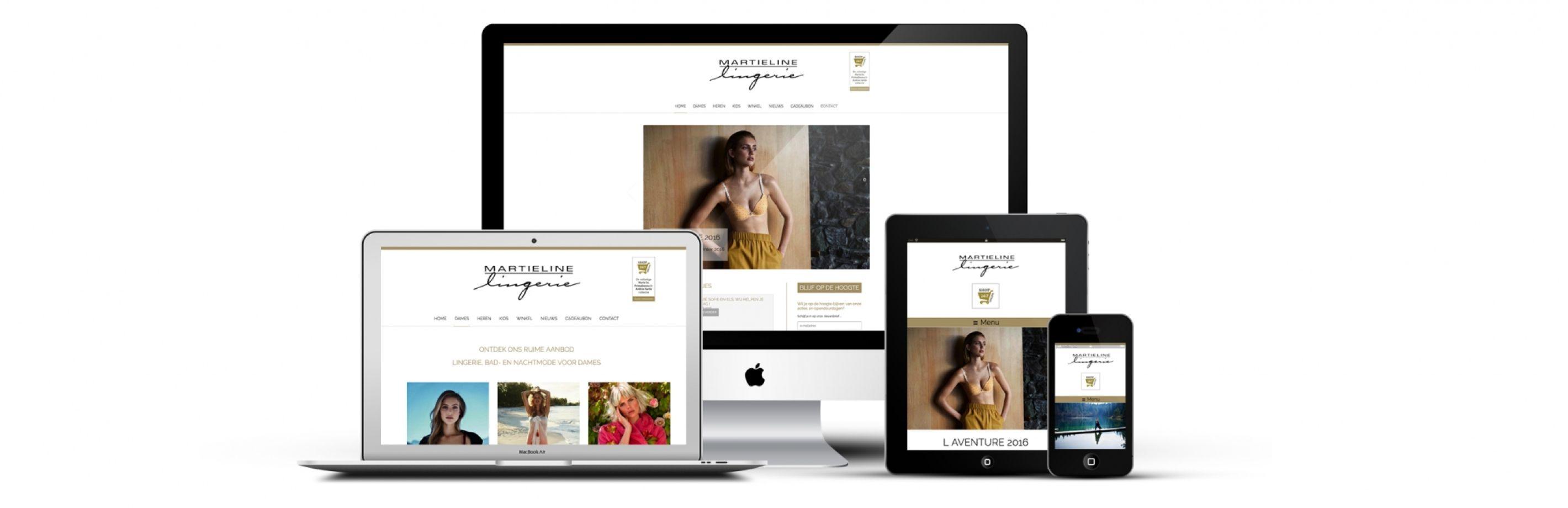 Lingerie Martieline Website Mockup