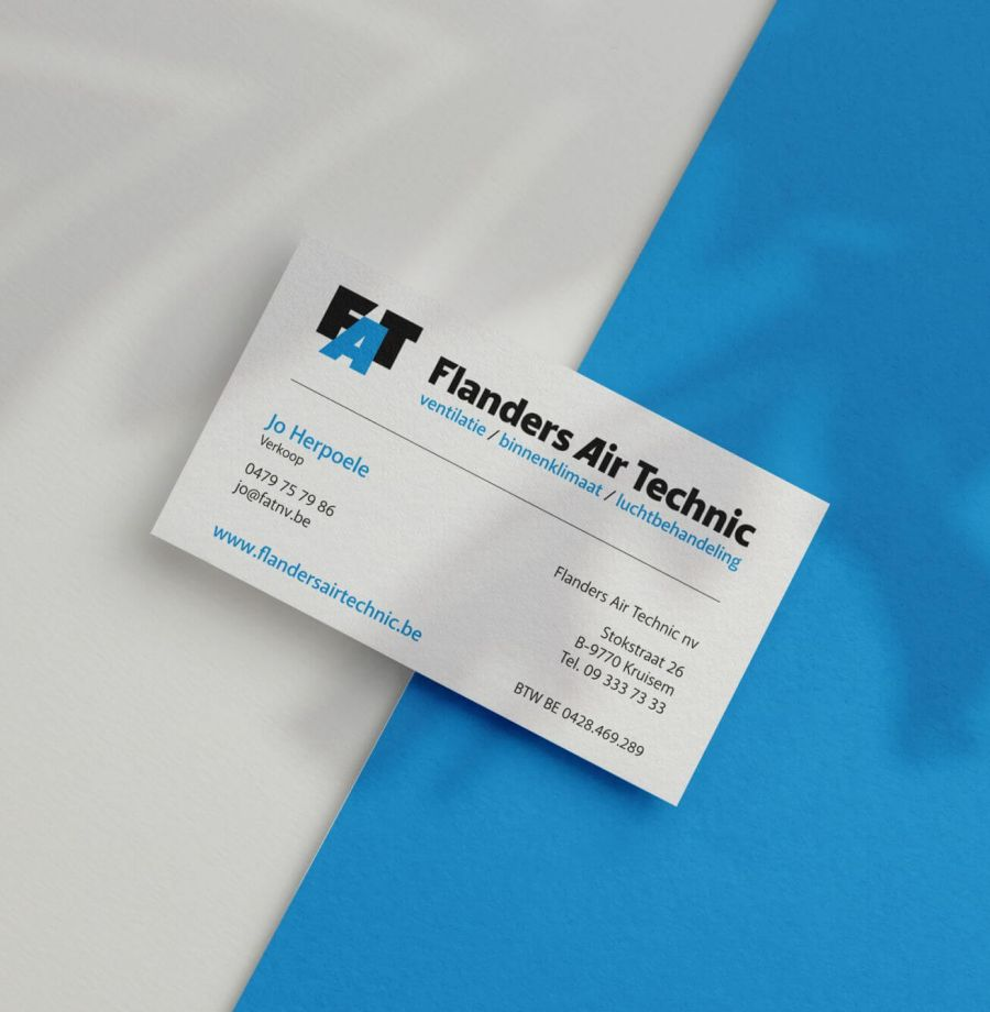 Flanders Air Technic naamkaartje