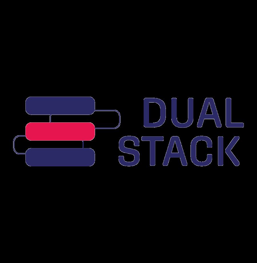 Dual stack logo