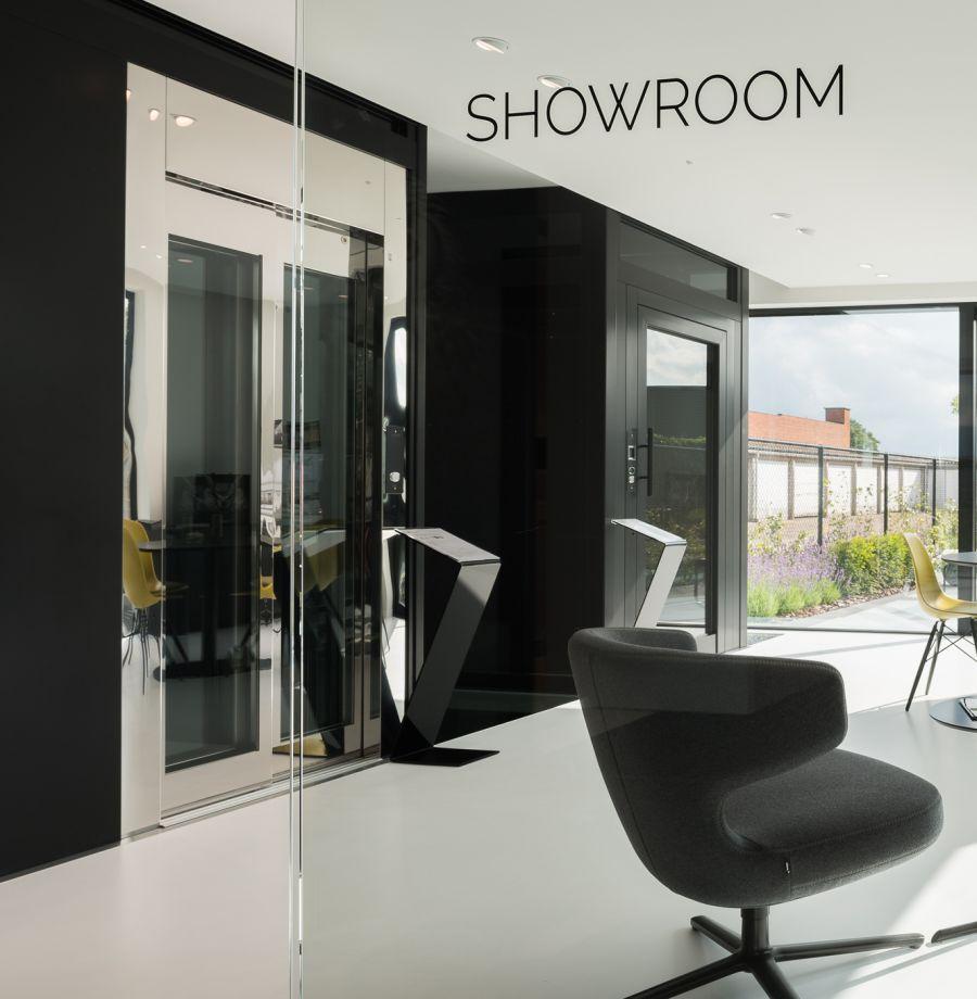 Verolift signalisatie showroom