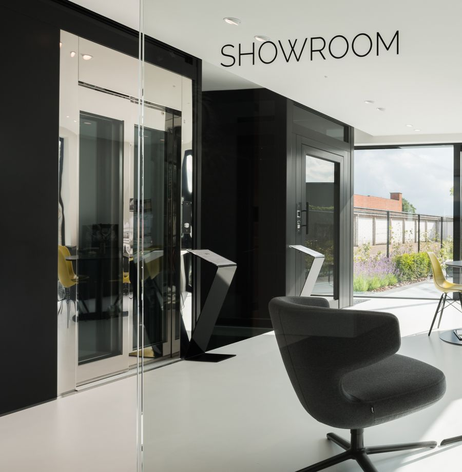 Verolift signalisatie showroom