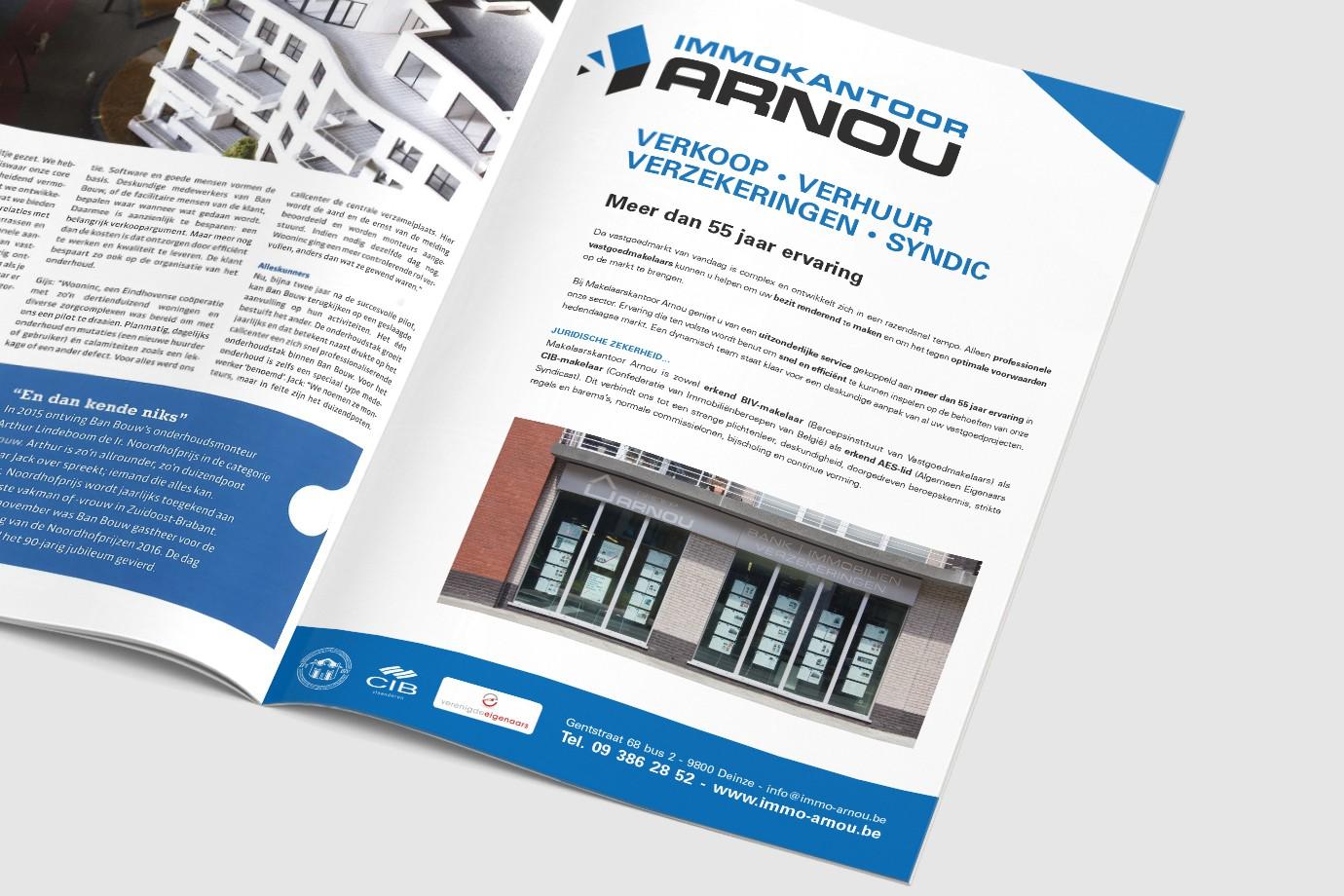 Arnou Immokantoor Advertentie
