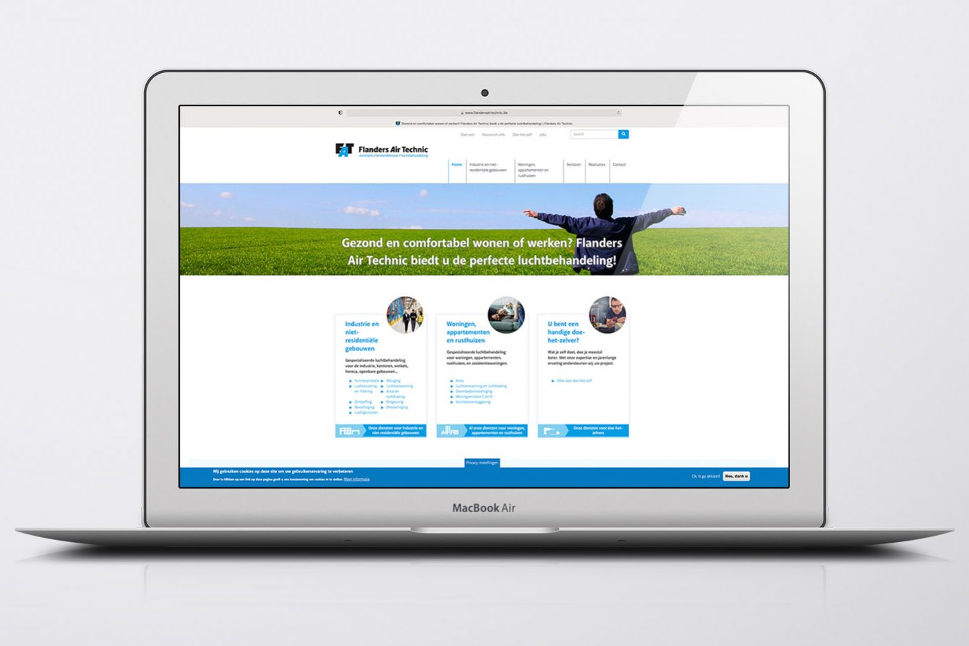 Flanders Air Technic website