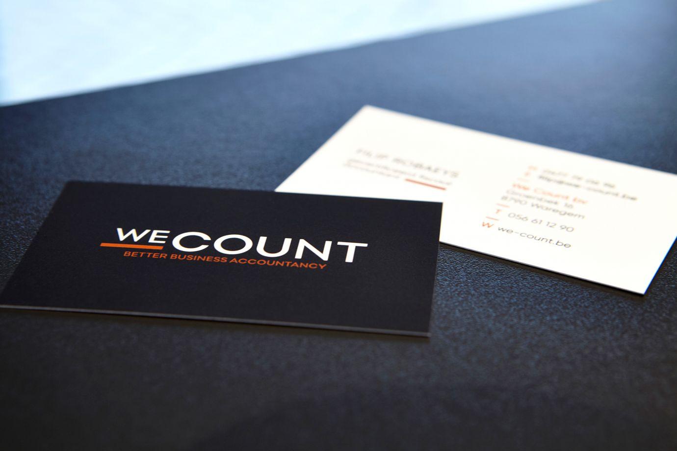 We Count visitekaartjes