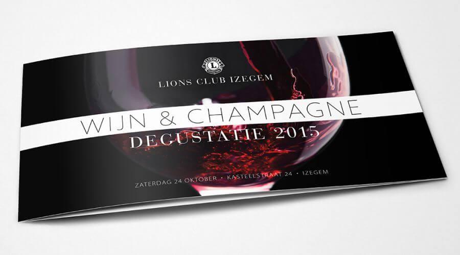 Uitnodiging degustatie Lions Club Izegem voorkant